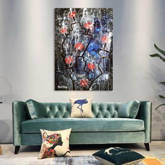 Moderni tapyba ant drobės - Paveikslai interjerui / Monisha Art / Darbų pavyzdys ID 994353