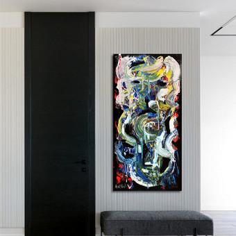 Moderni tapyba ant drobės - Paveikslai interjerui / Monisha Art / Darbų pavyzdys ID 994359