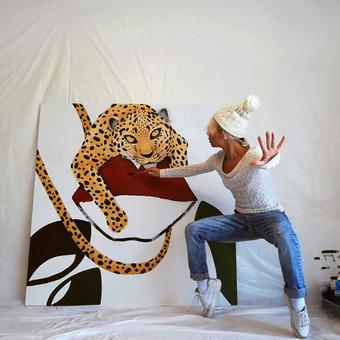 Moderni tapyba ant drobės - Paveikslai interjerui / Monisha Art / Darbų pavyzdys ID 994363