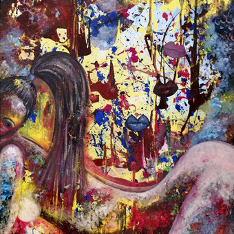 Moderni tapyba ant drobės - Paveikslai interjerui / Monisha Art / Darbų pavyzdys ID 994391