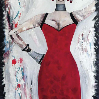 Moderni tapyba ant drobės - Paveikslai interjerui / Monisha Art / Darbų pavyzdys ID 994395