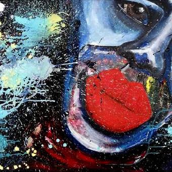 Moderni tapyba ant drobės - Paveikslai interjerui / Monisha Art / Darbų pavyzdys ID 994399
