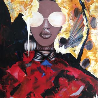 Moderni tapyba ant drobės - Paveikslai interjerui / Monisha Art / Darbų pavyzdys ID 994407