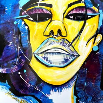 Moderni tapyba ant drobės - Paveikslai interjerui / Monisha Art / Darbų pavyzdys ID 994409