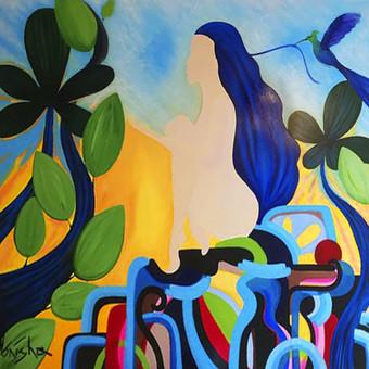 Moderni tapyba ant drobės - Paveikslai interjerui / Monisha Art / Darbų pavyzdys ID 994413