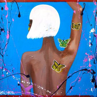 Moderni tapyba ant drobės - Paveikslai interjerui / Monisha Art / Darbų pavyzdys ID 994415