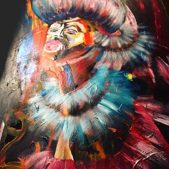Moderni tapyba ant drobės - Paveikslai interjerui / Monisha Art / Darbų pavyzdys ID 994417