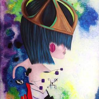Moderni tapyba ant drobės - Paveikslai interjerui / Monisha Art / Darbų pavyzdys ID 994419