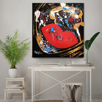 Moderni tapyba ant drobės - Paveikslai interjerui / Monisha Art / Darbų pavyzdys ID 994423