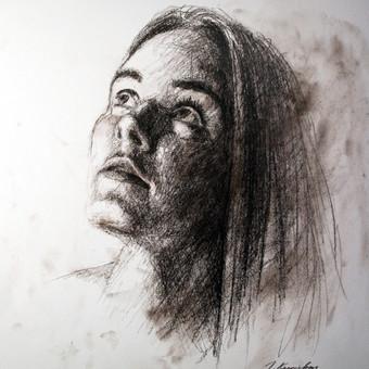 """Piešinys """"Drawing-014"""", anglis-popierius, 30x42cm (A3)"""