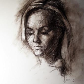 """Piešinys """"Drawing-016"""", anglis-popierius, 30x42cm (A3)"""