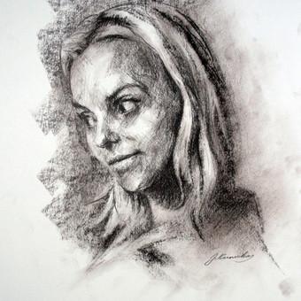 """Piešinys """"Drawing-017"""", anglis-popierius, 30x42cm (A3)"""