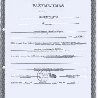 Elektro-sprendimai namams ir verslui / Algimantas Žilvys / Darbų pavyzdys ID 1004519