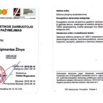 Elektro-sprendimai namams ir verslui / Algimantas Žilvys / Darbų pavyzdys ID 1004551