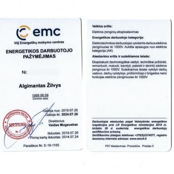 Elektro-sprendimai namams ir verslui / Algimantas Žilvys / Darbų pavyzdys ID 1004553