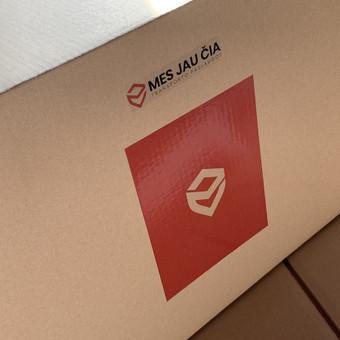 Vienos 5 sluoksnių dėžės kaina yra nuo 1,80 eur. + PVM