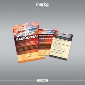 DIZAINO IR REKLAMOS SPRENDIMAI / UAB Marko dizainas / Darbų pavyzdys ID 1022633