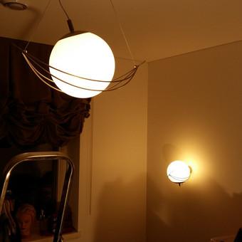Montuojame šviestuvus pagal dizainerių projektus