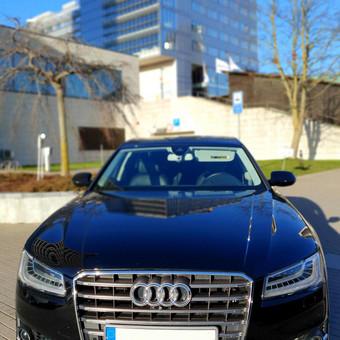 Prabangiu Audi A8 Long Nuoma Vestuvėms / a8nuoma / Darbų pavyzdys ID 1054631