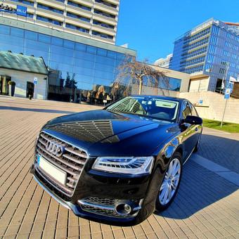 Prabangiu Audi A8 Long Nuoma Vestuvėms / a8nuoma / Darbų pavyzdys ID 1054635