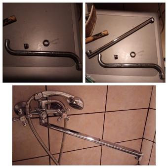 Nulaužto vonios čiaupo keitimo darbai. Kartais užtenka pakeisti tik detalę, kad daiktas funkcionuotų puikiai.