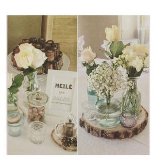 Mediniai padėkliukai, vazos, indai, žvakidės..
