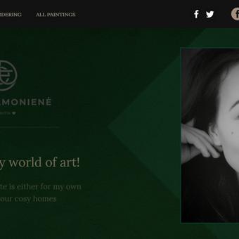 Dvikalbė svetainė-portfolio