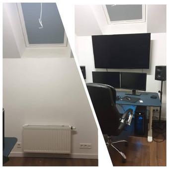 Televizoriaus tvirtinimas, kabinimas, montavimas Jūsų namuose, biure, sodyboje... Nėra blogų vietų tvirtinti televizoriaus, Jūs tik išsirinkite patogią žiūrėjimo vietą.