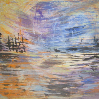 Laivai. Pastelė, tušas