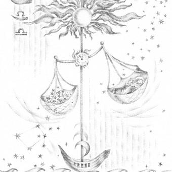 Zodiakas. Svarstyklės. Tušas