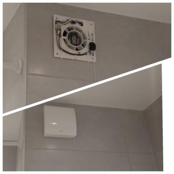 Vonios ventiliatoriaus tvirtinimo darbai. Prieš renkantis ventiliatorių, sužinokite šachtos skylės diametrą. Daugiau vonioje komforto, kai oro ištraukimo ventiliatorius veikia tyliai