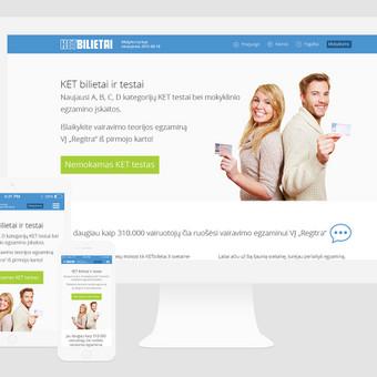 Ketbilietai.lt, nuotolinio vairavimo teorijos mokymo svetainė. Spredimas: Web ir UI/UX dizainas.