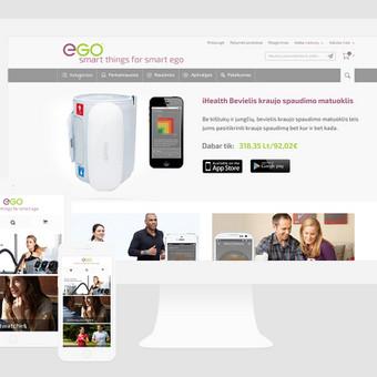 Egosmart.lt, išmaniųjų įrenginių internetinė parduotuvė. Spredimas: Web dizainas.