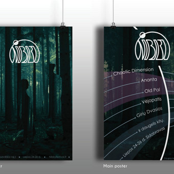 """Muzikos ir menų festivalio """"Nibiru"""" plakatai."""
