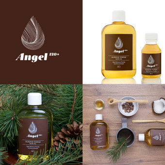 Brendas ir pakuotė vonios aliejui / Bath oil brand and package design | ANGEL 120+