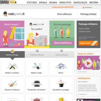 Paslaugų portalas, leidžiantis klientui greitai ir patogiai surasti paslaugų teikėją.