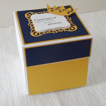 Krikštynų, gimtadienio sveikinimas dėžutėje