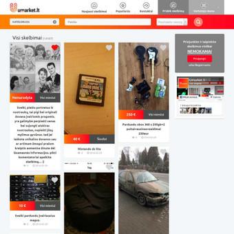 Skelbimų portalas, skelbimai imami automatiškai iš Facebook grupės. Demo: http://goo.gl/5MMi2K