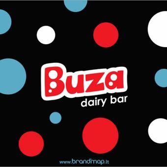 """Buza"" logotipas ir firminiai elementai."