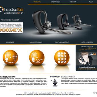 headseton.de svetainės titulinis puslapis.