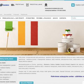 Interneto svetainių kūrimas Kaune / Tadas Dabulskis / Darbų pavyzdys ID 128187