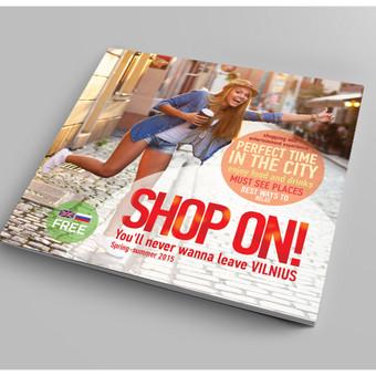 """""""Shop On! Vilnius"""" viršelio vizualizacija"""