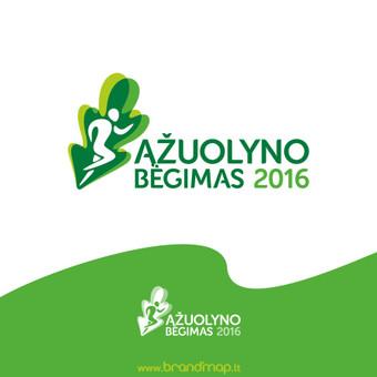"""""""Ąžuolyno bėgimas"""" logotipas"""
