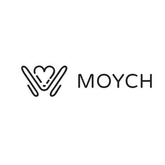 """Sukurtas logotipas pažinčių svetainei """"Moych""""."""