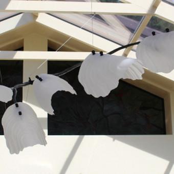 Stiklo šviestuvas- Gamtos sparnai