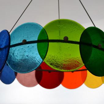 Stiklo šviestuvas -Rainbow-