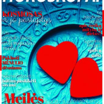 """Birželio mėn. žurnalas prie kavos """" HOROSKOPAI"""" : """"Meilės ir porų suderinamumo horoskopas  visiems zodiako ženklams""""."""
