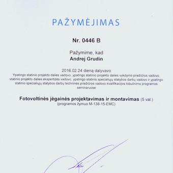 """Geras elektrikas - inžinierius, UAB """"ELEKTARA"""" / Andrej Grudin / Darbų pavyzdys ID 134151"""