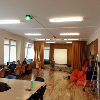 """Vaikų dienos centro """"Mūsų nameliai"""" apšvietimo rekonstrukcija."""