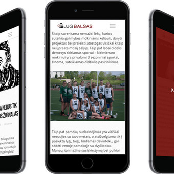 JJG Balsas is my high school's online magazine. The articles in the website are created, edited and curated by the students